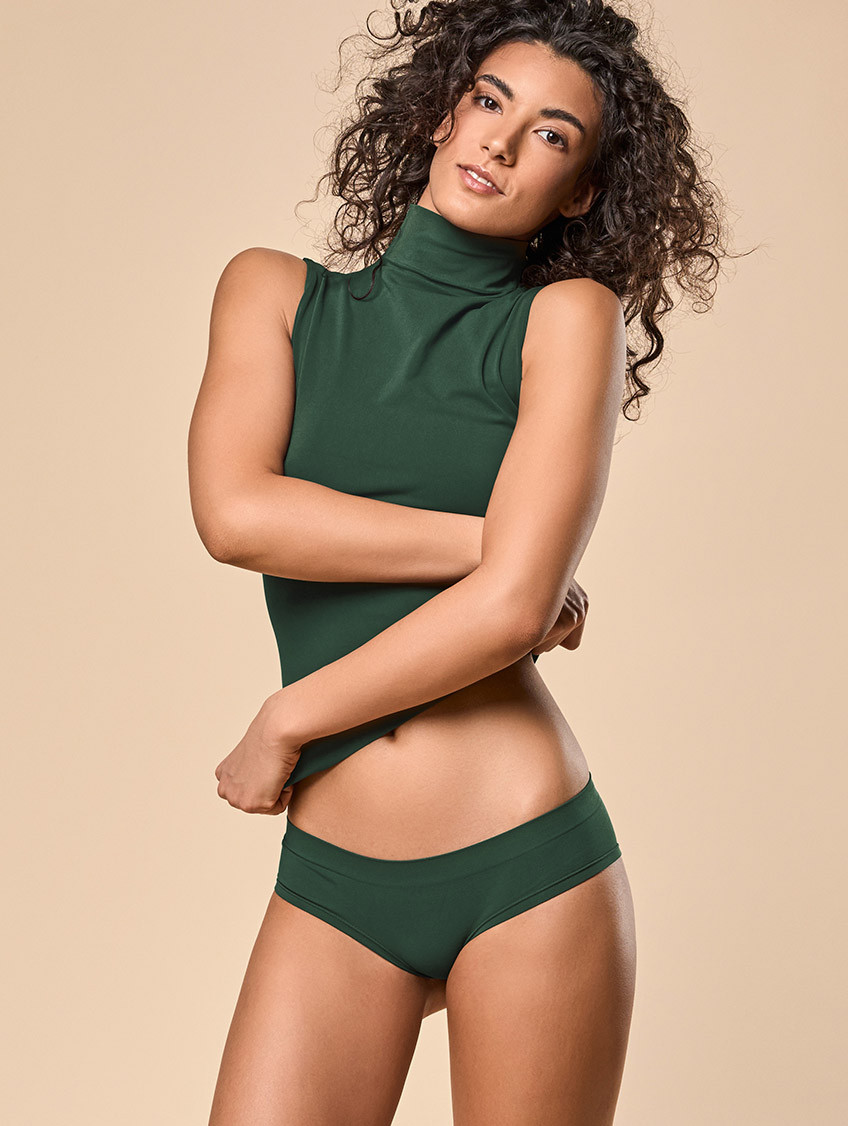 PANTY DONNA VERDE SCURO