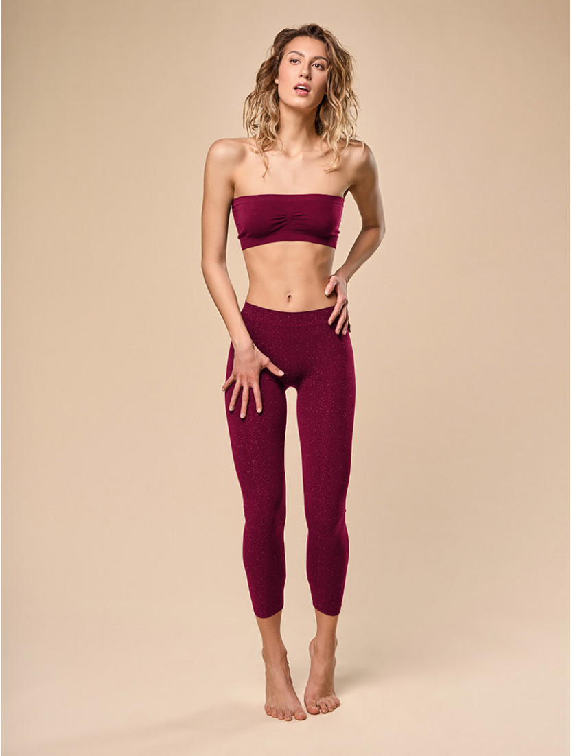 LEGGINGS DONNA SWAROVSKI BORDO'