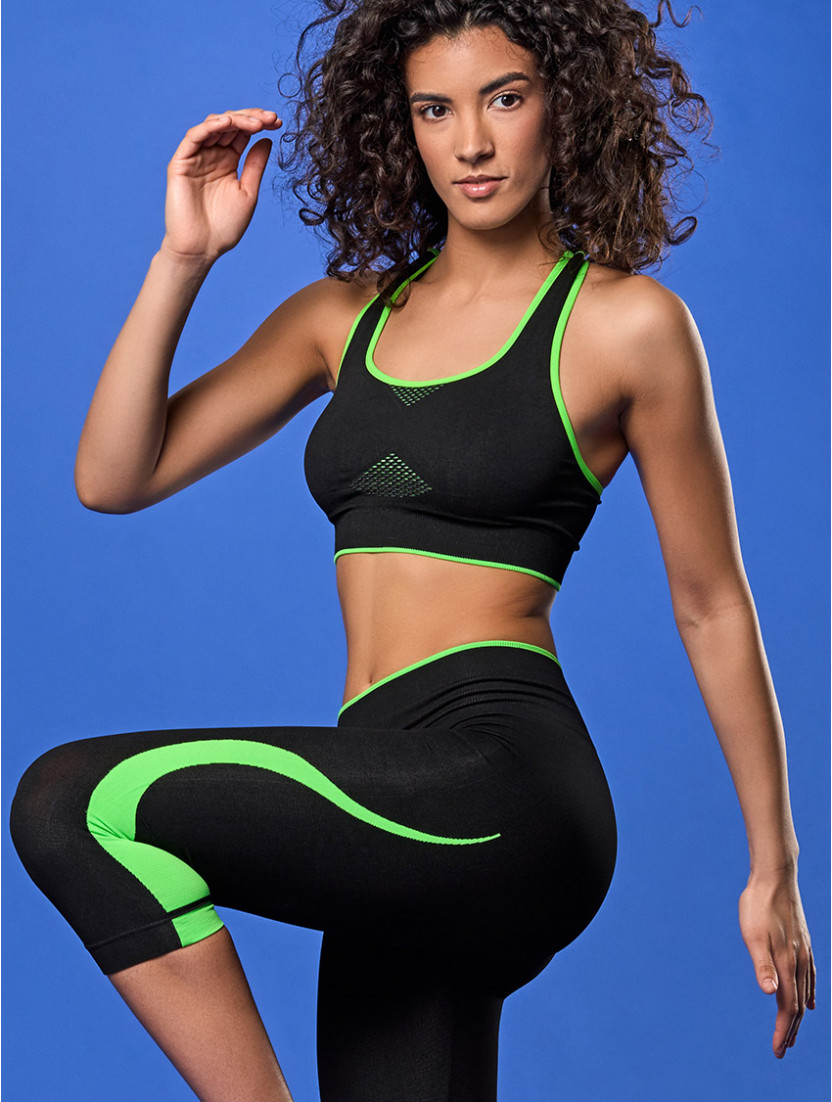 TOP FITNESS NERO VERDE