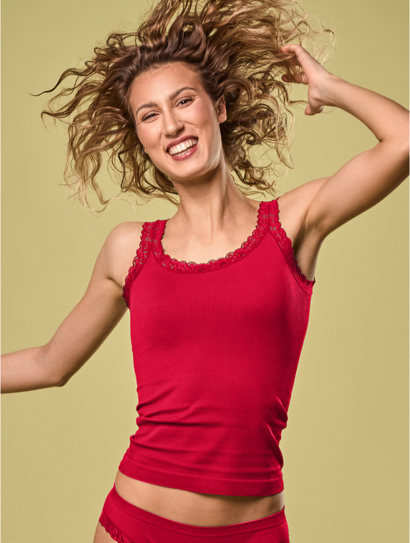 CARACO PIZZO DONNA ROSSO