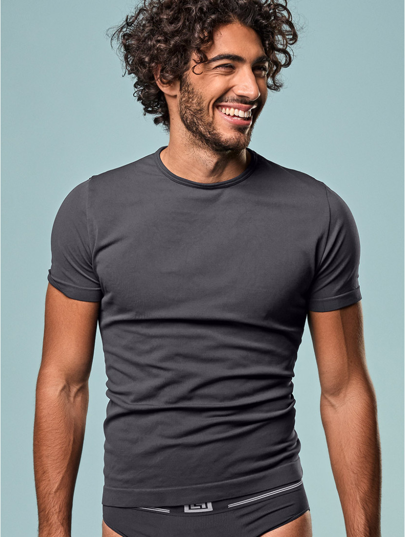 T-SHIRT UOMO GIROCOLLO ANTRACITE
