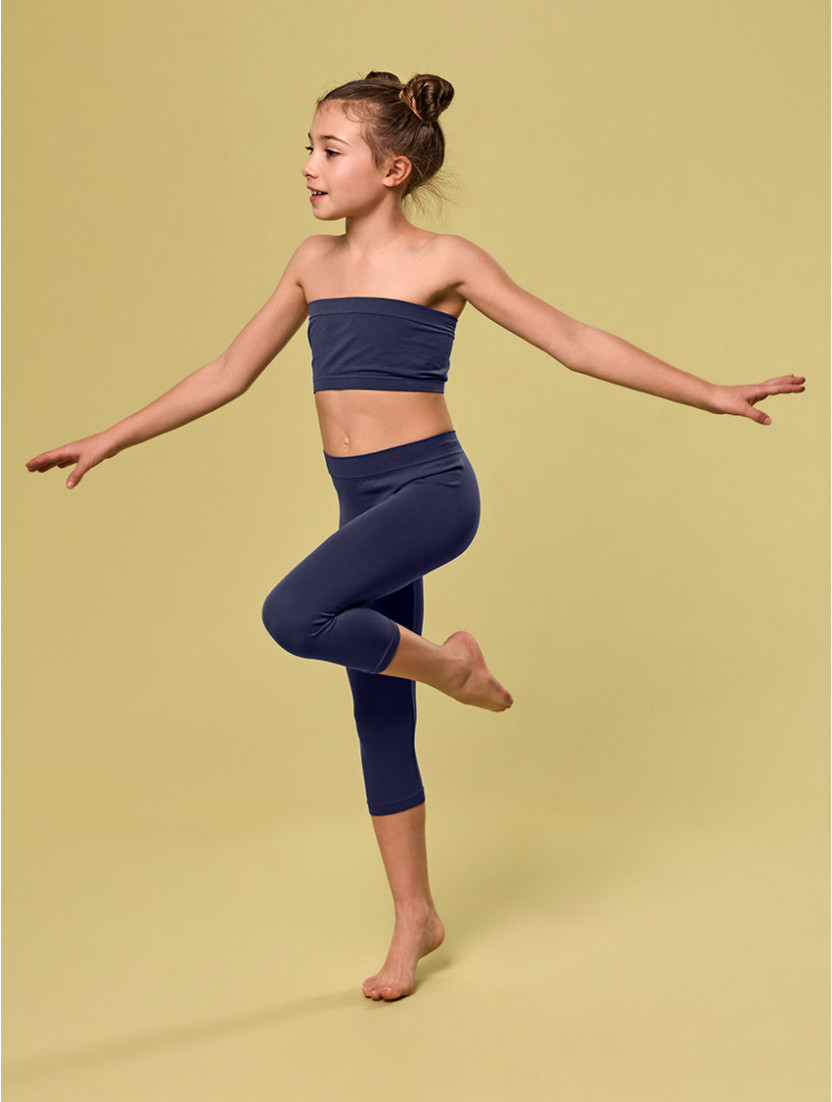 LEGGINGS BIMBA/O MEDIO BLU