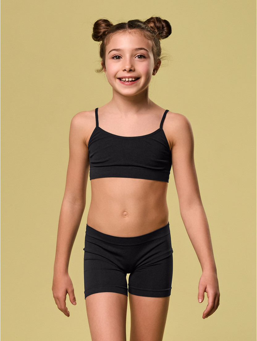 SHORTY DANZA BIMBA NERO