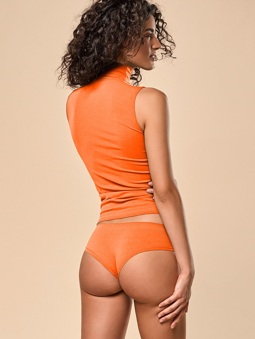 DAMEN-PANTY ORANGE FLUO'