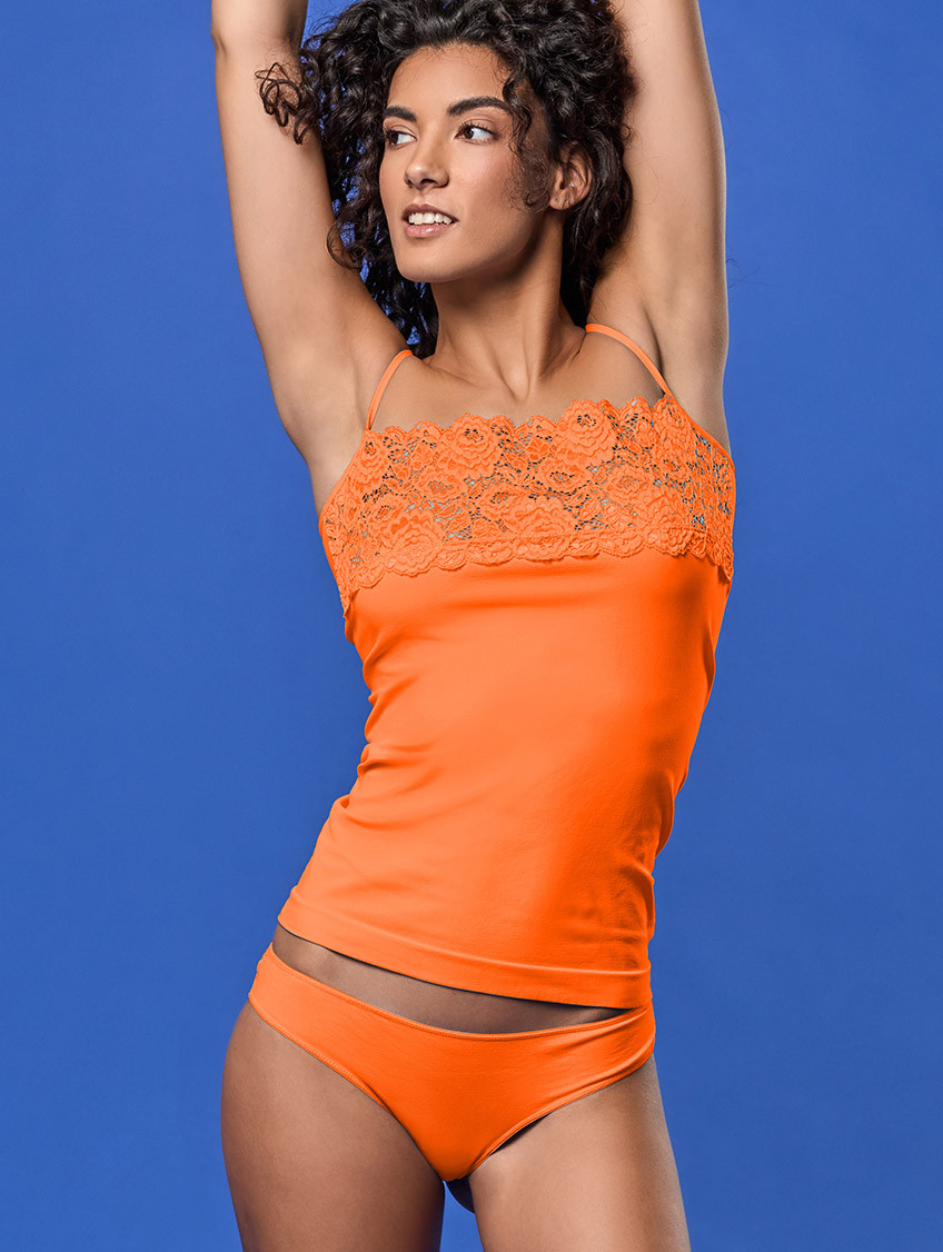 SPITZEN-BRASILSLIP ORANGE FLUO'