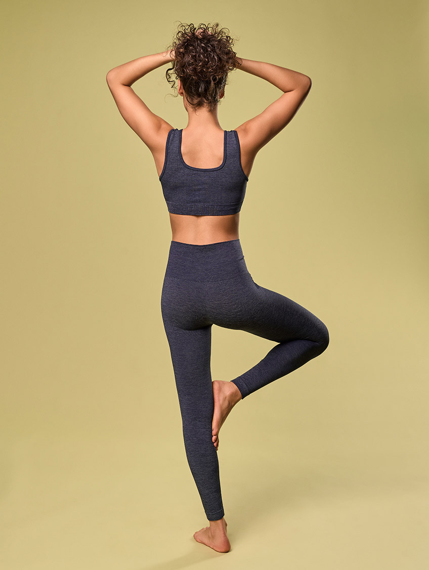 DENIM-SPORTLEGGINGS BLAU