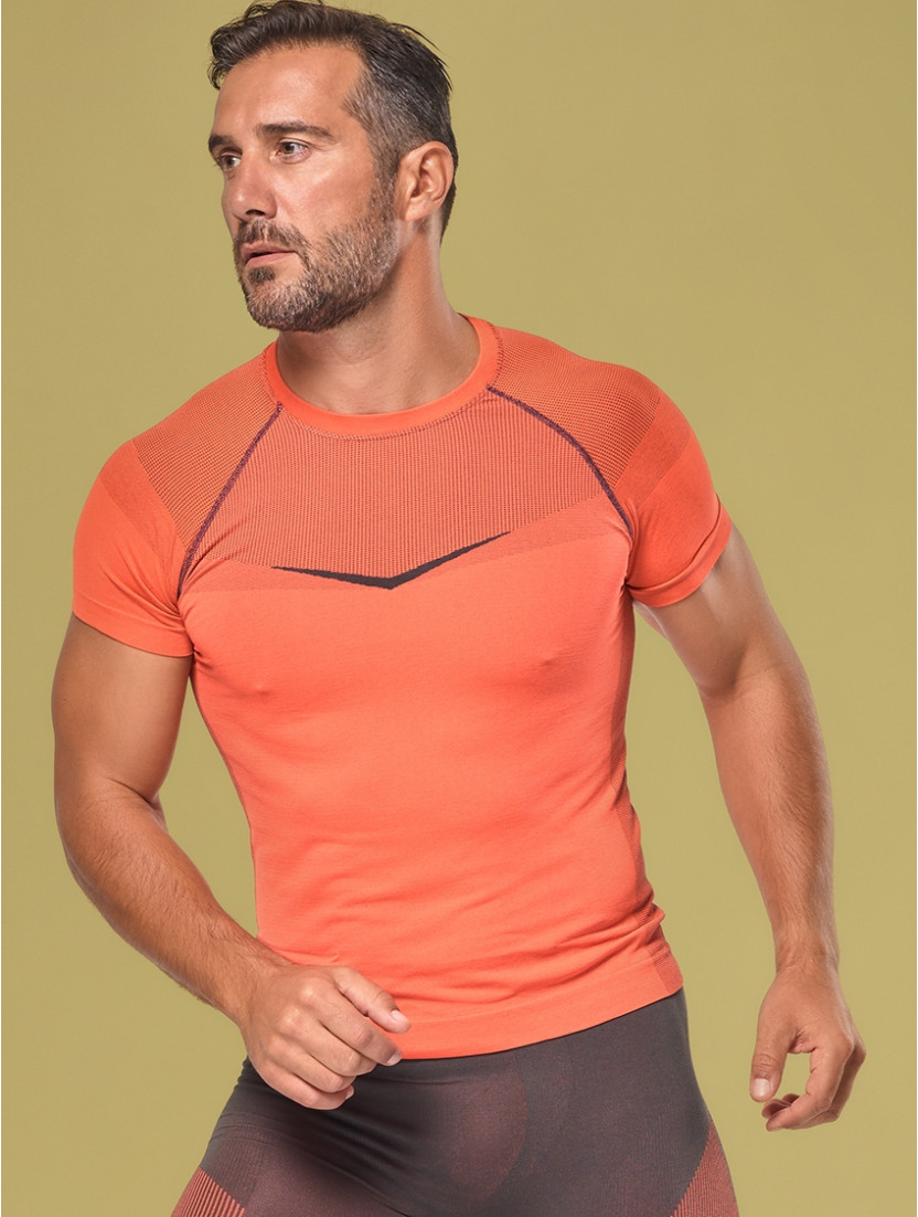 MÄNNER-T-SHIRT BREEZE ORANGE/GRAY
