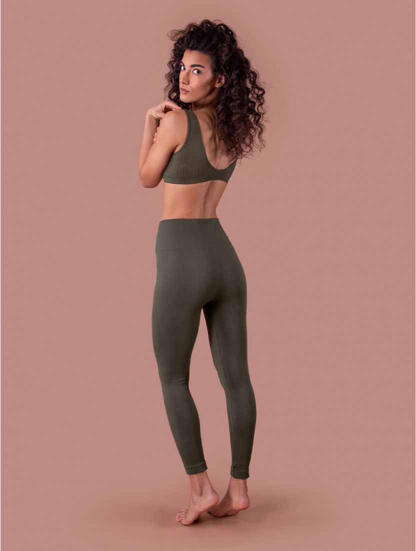 RIB LEGGINGS OLIVE