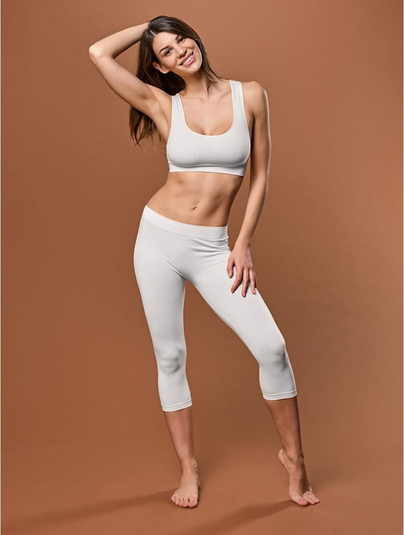 Capri Leggings Für Damen WHITE