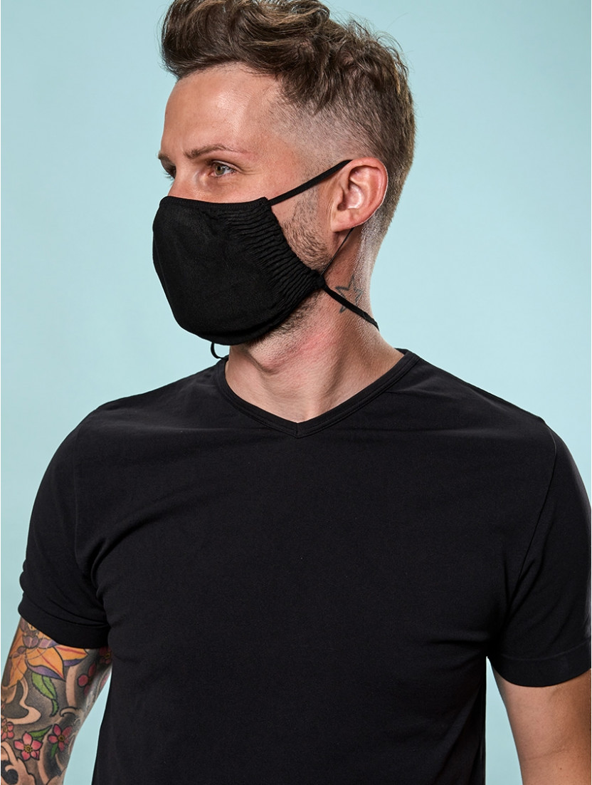 ADJUSTABLE REUSABLE FACE MASK BLACK