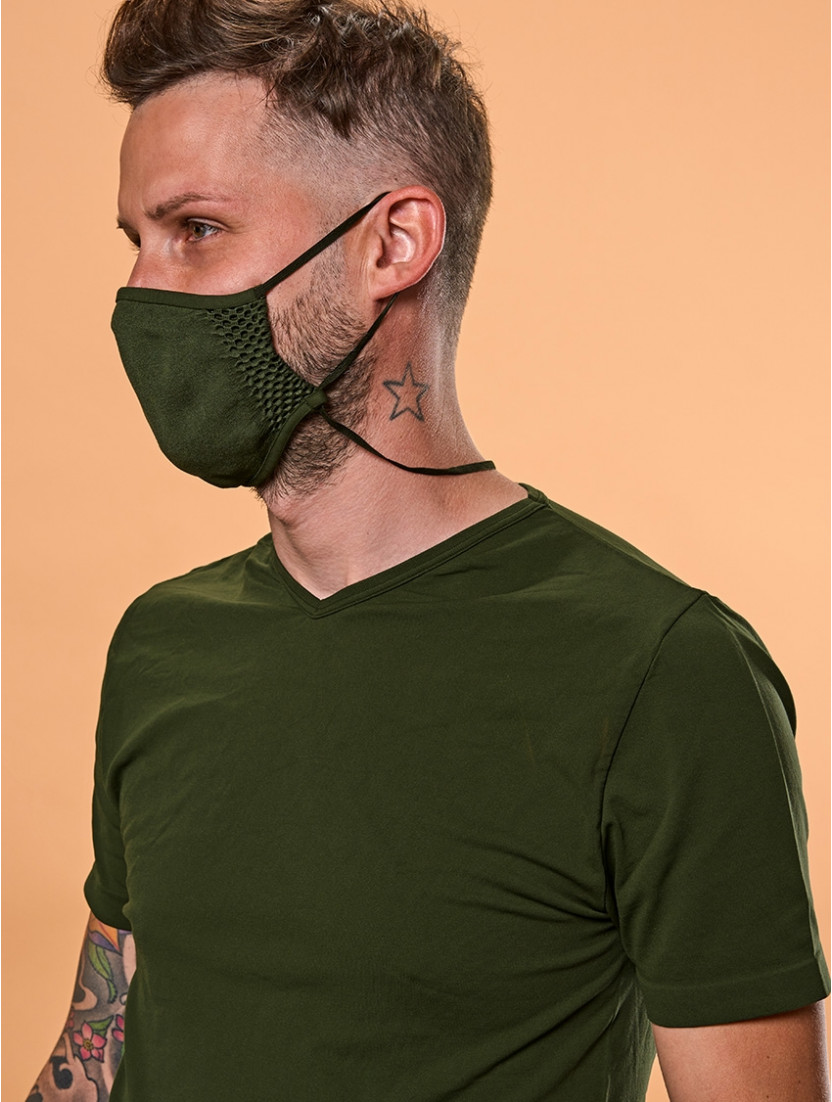 ADJUSTABLE REUSABLE FACE MASK MILITARY GREEN