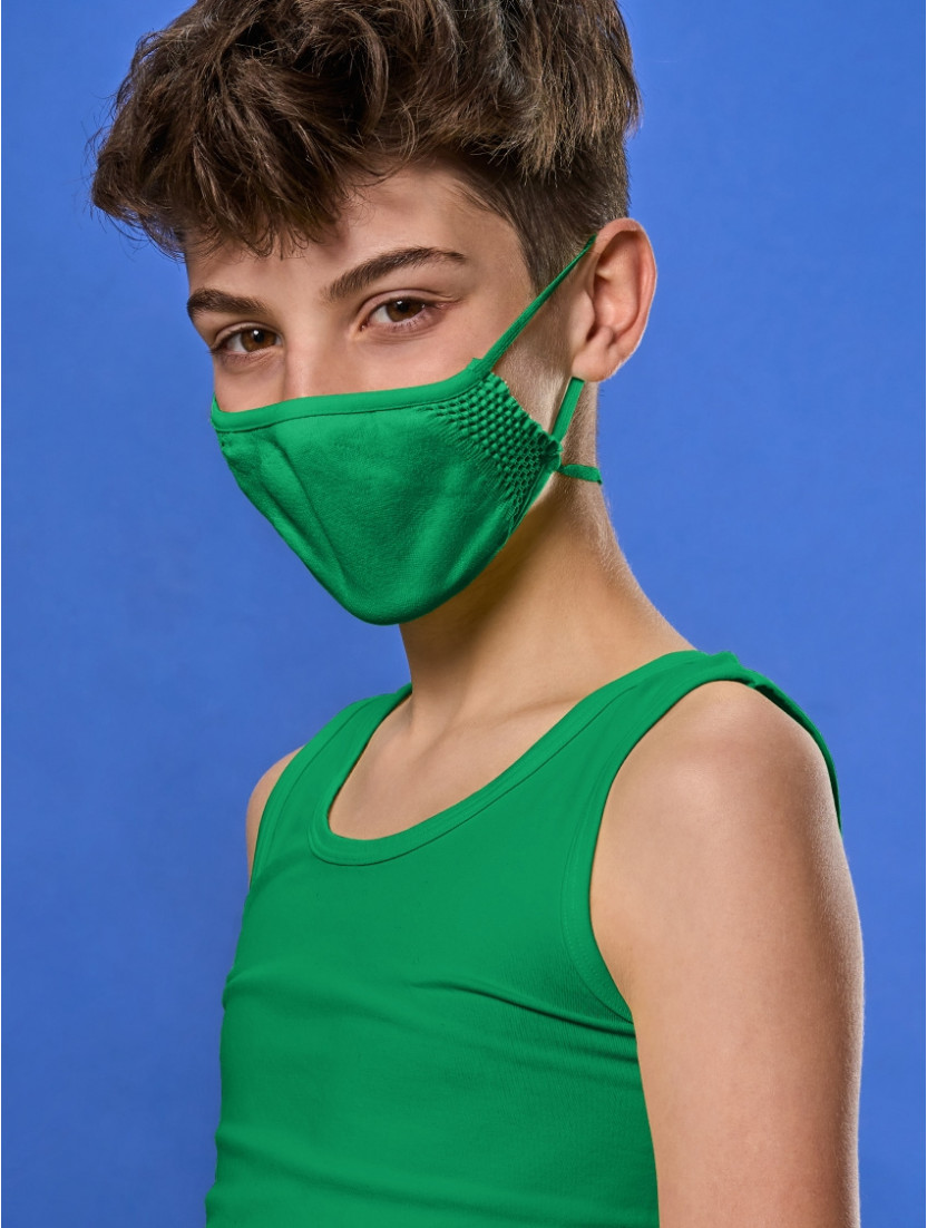 ADJUSTABLE REUSABLE FACE MASK KIDS GREEN
