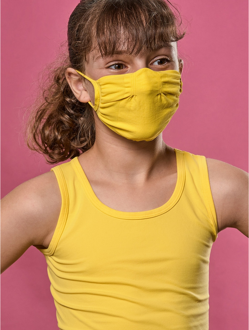 ADJUSTABLE REUSABLE FACE MASK Q-SKIN YELLOW