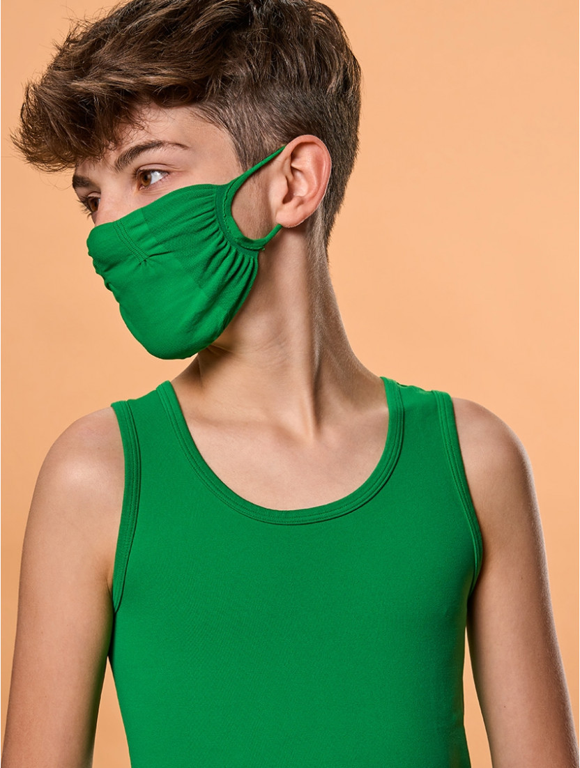 ADJUSTABLE REUSABLE FACE MASK Q-SKIN GREEN