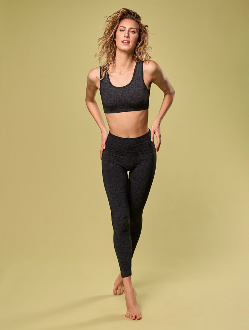 DENIM-SPORTLEGGINGS SCHWARZ