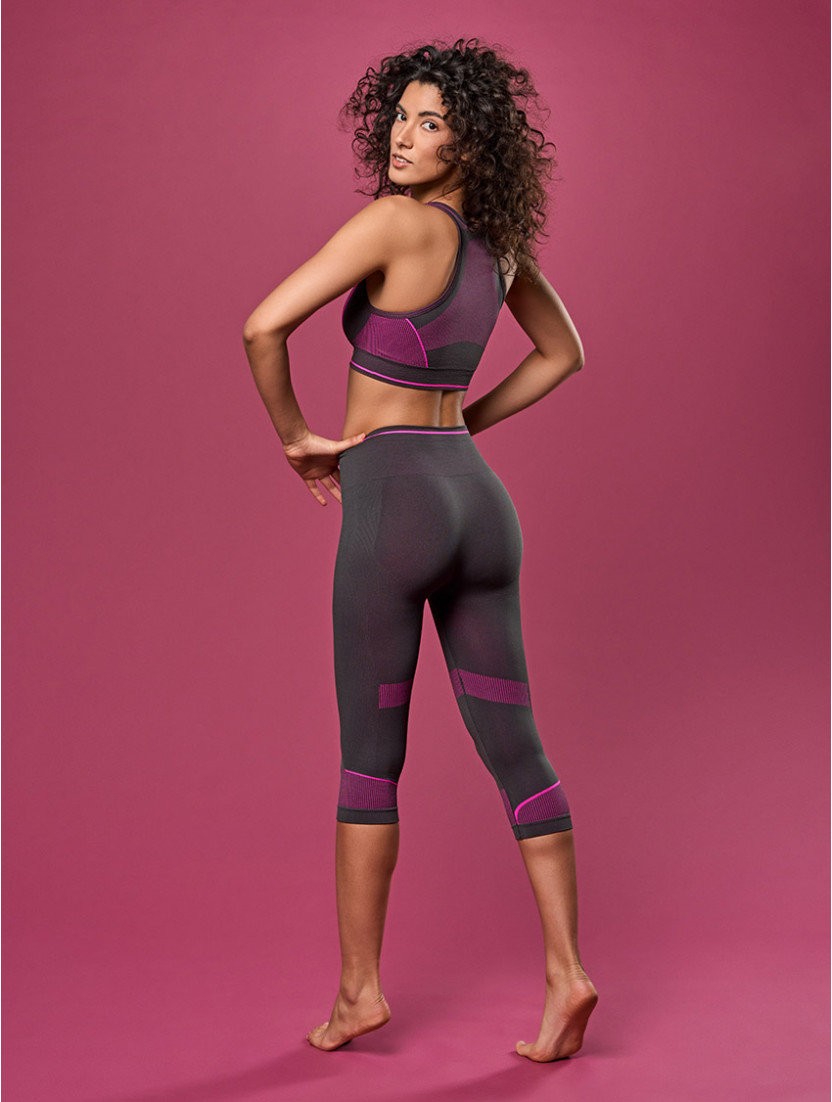 LEGGINGS BREEZE GRAY/FUCHSIE